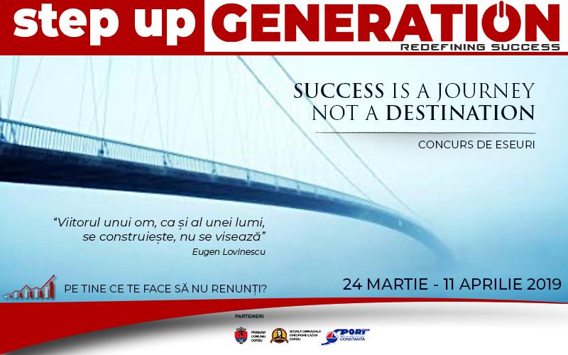 """Concurs se eseuri """"Success is a journey. Not a destination."""""""